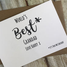 Load image into Gallery viewer, World's Best Grandad Personalised Card-2-The Persnickety Co