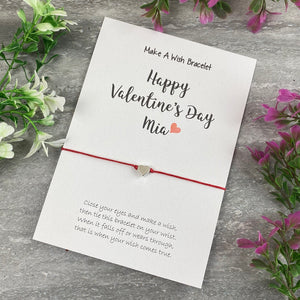 Happy Valentine's Day Personalised Wish Bracelet-5-The Persnickety Co