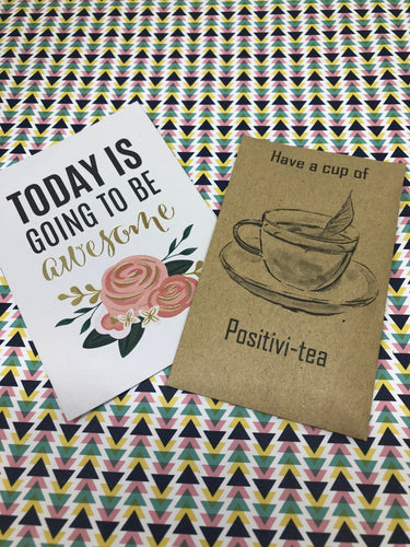 Have A Cup Of Positivi-TEA Mini Kraft Envelope with Tea Bag-The Persnickety Co