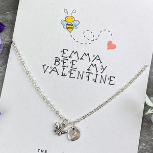 Bee My Valentine Necklace-8-The Persnickety Co