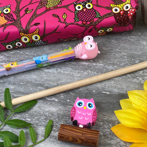 Owl Stationery Set - Pink-3-The Persnickety Co