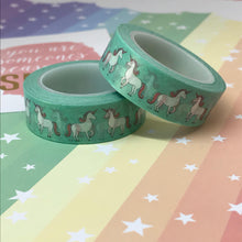 Load image into Gallery viewer, Teal Unicorn Washi Tape-The Persnickety Co