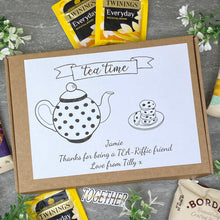 Load image into Gallery viewer, Tea-Riffic Friend Personalised Tea and Biscuit Box-6-The Persnickety Co