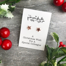 Load image into Gallery viewer, A Christmas Wish For A Special Colleague - Star Earrings-4-The Persnickety Co