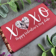Load image into Gallery viewer, Personalised Love Heart Valentines Day Chocolate Bar