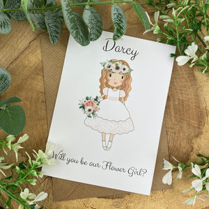 Wedding Card - Will You Be Our Flower Girl?-8-The Persnickety Co