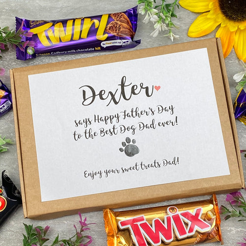 Personalised Happy Father's Chocolate Box-The Persnickety Co