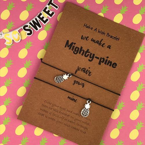 We Make A Mighty Pine Pair Wish Bracelets-The Persnickety Co