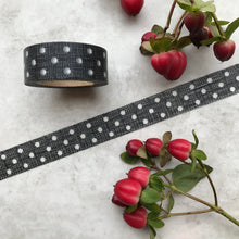 Load image into Gallery viewer, Black and White Polka Dot Washi Tape-The Persnickety Co