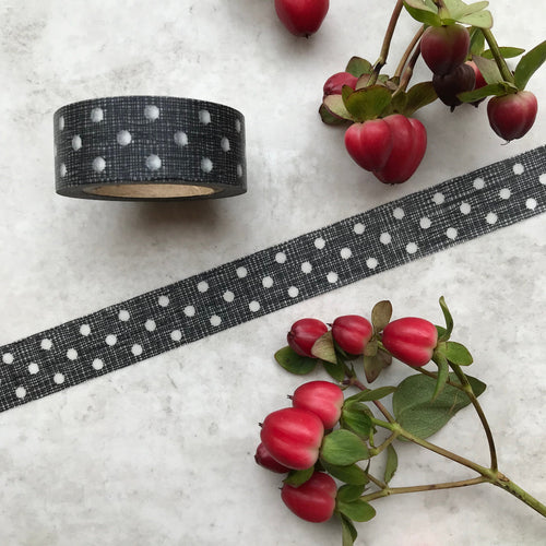 Black and White Polka Dot Washi Tape-The Persnickety Co