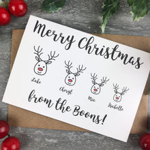 Load image into Gallery viewer, Personalised Reindeer Cards-10-The Persnickety Co