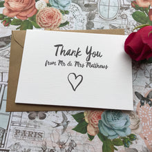 Load image into Gallery viewer, Thank You Wedding Card-8-The Persnickety Co