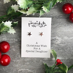 A Christmas Wish For A Special Daughter - Star Earrings-2-The Persnickety Co