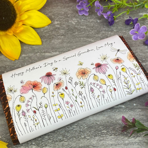 Happy Mother's Day To A Special Grandma Personalised Chocolate Bar-The Persnickety Co