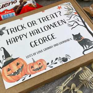 Trick Or Treat Personalised Halloween Kinder Bueno Box