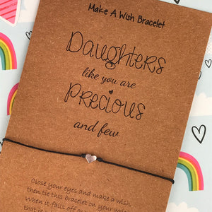 Daughters Like You Are Precious and Few - Wish Bracelet-3-The Persnickety Co