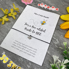 Load image into Gallery viewer, Bride To Bee Wish Bracelet On Plantable Seed Card-10-The Persnickety Co