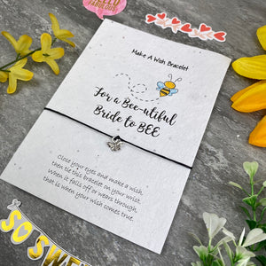 Bride To Bee Wish Bracelet On Plantable Seed Card-10-The Persnickety Co