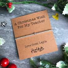 Load image into Gallery viewer, A Christmas Wish For My Teacher-7-The Persnickety Co
