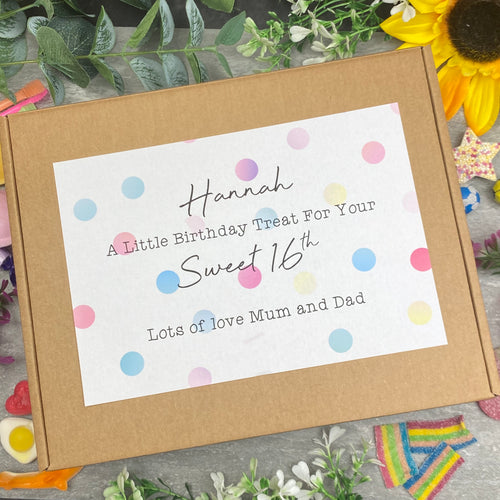 Sweet 16th Personalised Sweet Box-The Persnickety Co