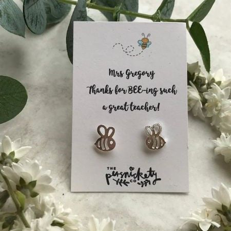 Thanks For BEE-ing Such A Great Teacher /Teaching Assistant Bee Earrings-The Persnickety Co