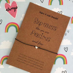 Step-Mums Like You Are Precious And Few Wish Bracelet-2-The Persnickety Co
