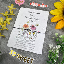 Load image into Gallery viewer, Mum If You Were A Flower Wish Bracelet On Plantable Seed Card-6-The Persnickety Co