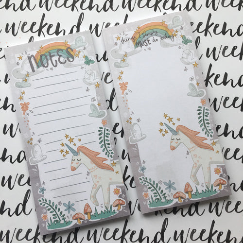 Unicorns and Rainbows List Pad-The Persnickety Co