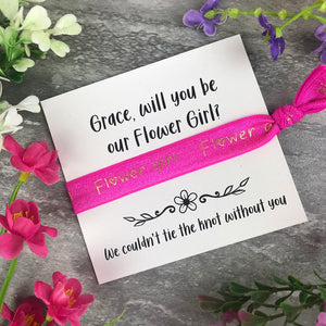 Flower Girl Proposal Hair Tie / Wrist Band-The Persnickety Co