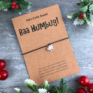 Baa Humbug Wish Bracelet-3-The Persnickety Co