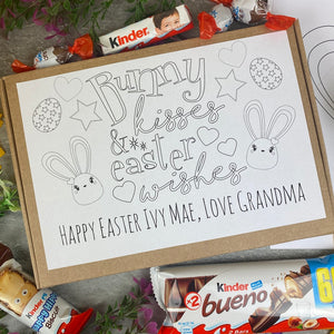 Personalised Colouring in Easter Bunny Kinder Box