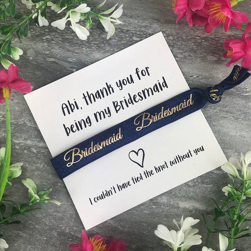 Bridesmaid Hair Tie-The Persnickety Co