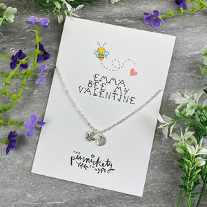 Bee My Valentine Necklace-The Persnickety Co