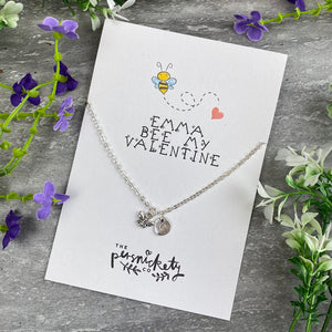 Bee My Valentine Necklace-2-The Persnickety Co