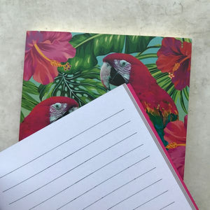 A6 Luxury Gold Foil Parrot Notebook-3-The Persnickety Co