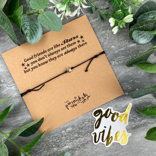 Star Anklet - Good Friends Are Like Stars-The Persnickety Co