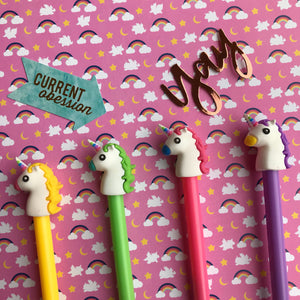 Bright Unicorn Gel Pen-7-The Persnickety Co