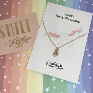 Personalised Unicorn Necklace-The Persnickety Co