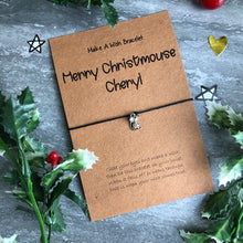 Load image into Gallery viewer, Merry Christmouse Wish Bracelet-8-The Persnickety Co