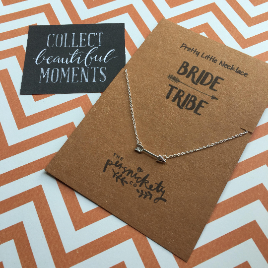 Bride Tribe Arrow Necklace-4-The Persnickety Co