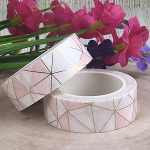Pink Geometric Washi Tape-2-The Persnickety Co