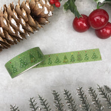 Load image into Gallery viewer, Green Christmas Tree Washi Tape-The Persnickety Co