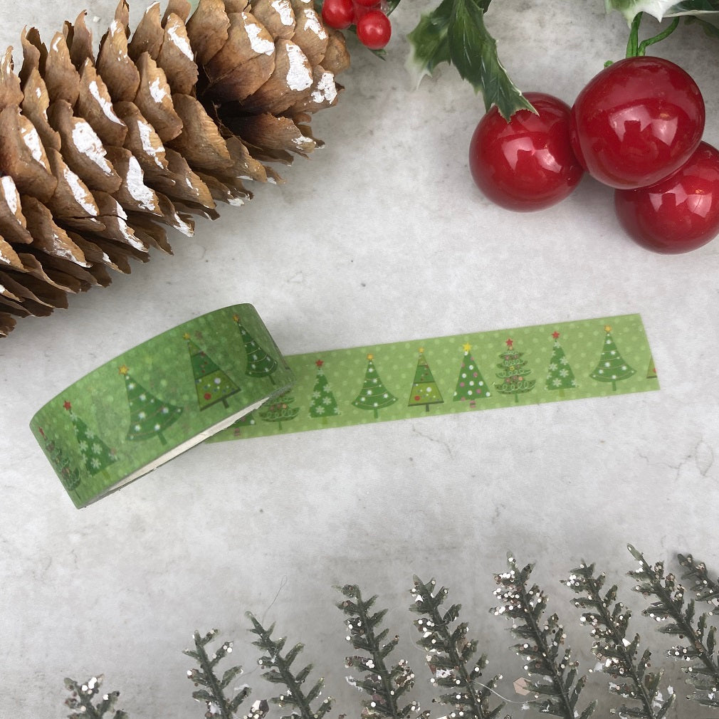 Green Christmas Tree Washi Tape-The Persnickety Co