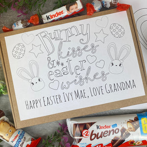 Personalised Colouring in Easter Bunny Kinder Box-The Persnickety Co