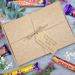 A Father's Day Treat - Personalised Chocolate Gift Box-The Persnickety Co