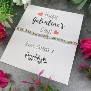 Personalised Galentine's Day Beaded Bracelet