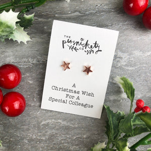 A Christmas Wish For A Special Colleague - Star Earrings-7-The Persnickety Co