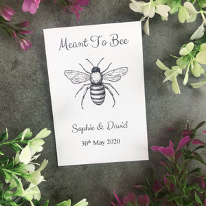 Personalised Meant To Bee Seed Wedding Favours Pack Of 12-7-The Persnickety Co