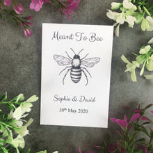 Load image into Gallery viewer, Personalised Meant To Bee Seed Wedding Favours Pack Of 12-3-The Persnickety Co
