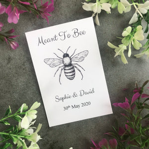 Personalised Meant To Bee Seed Wedding Favours Pack Of 12-8-The Persnickety Co